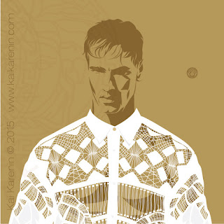 Fabio Mancini by Kai Karenin, vector illustration