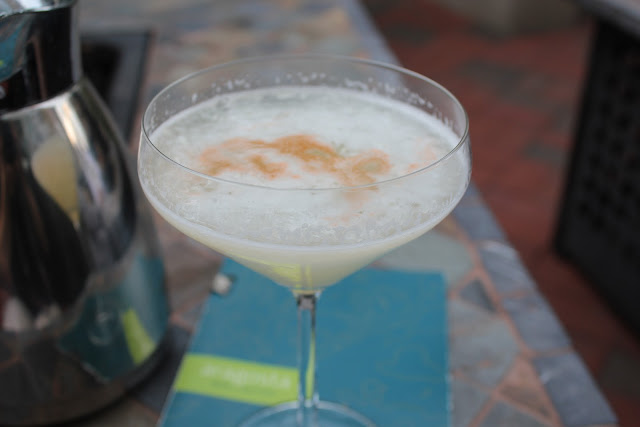Pisco sour at Aragosta, Boston, Mass.
