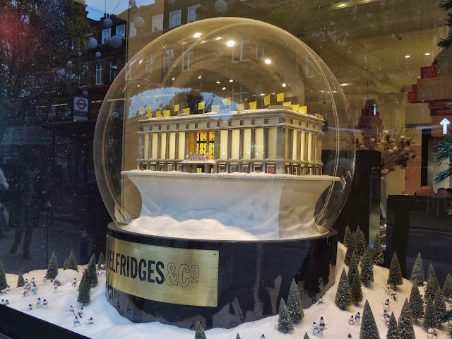 Giant snowshaker for Selfridges windows Christmas 2013