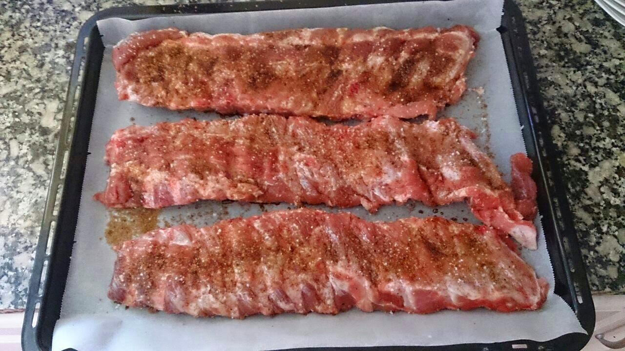 Costillas Al Horno Con Salsa Barbacoa Y Miel