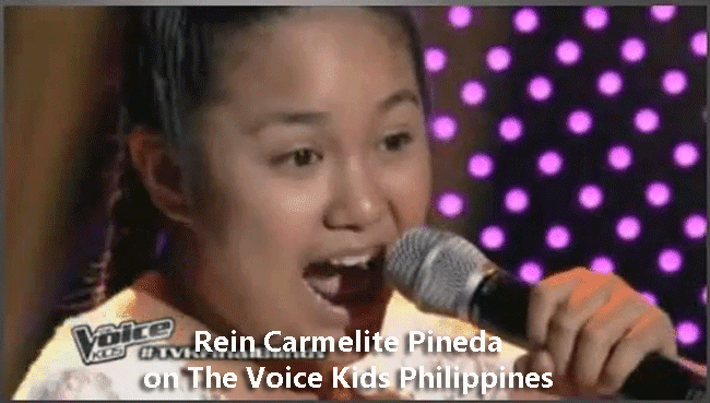Rein Carmelite Pineda on The Voice Kids Philippines