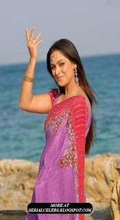 simran in pink low hip saree