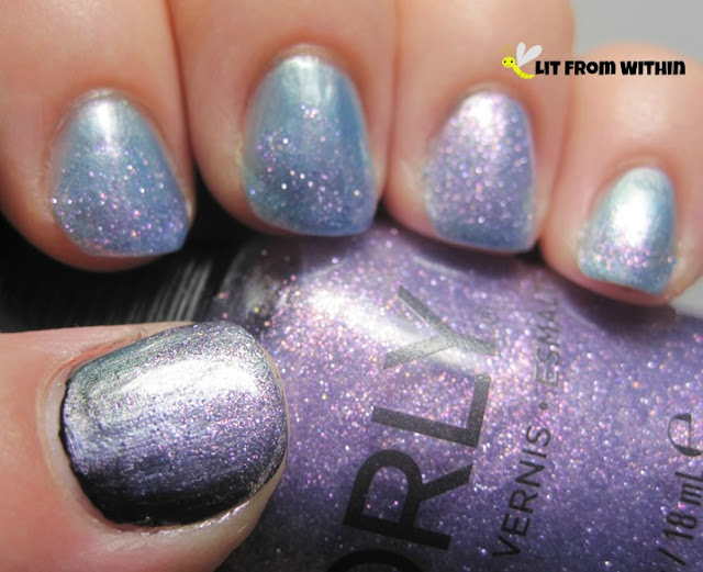 Pixie Powder's amazing purple shimmer and holo glitter
