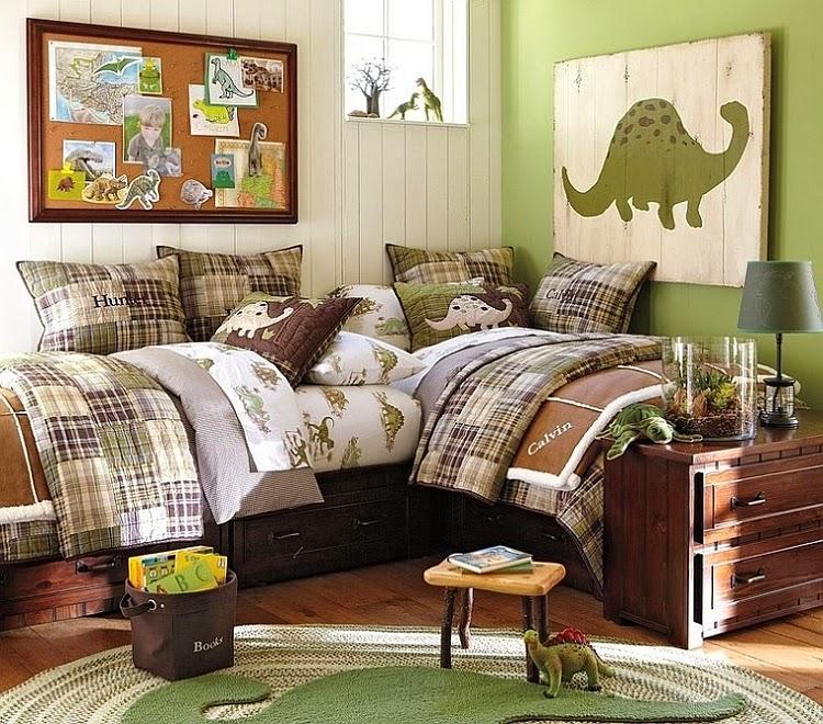 Dormitorio de Niños decorado con Dinosaurios
