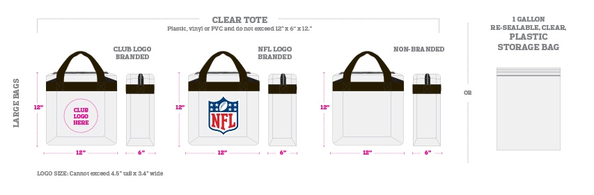 nfl bag policy, nfl purse policy, nfl purse rule