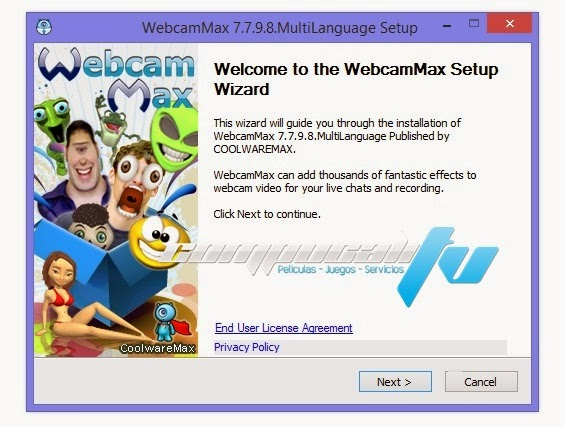 WebcamMax Español Versión 8.0.0.2