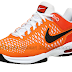 Nike Air Max Cage TS Orange/White tennis Shoe - tennis shoes