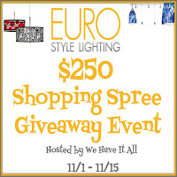 $250 Euro Style Lighting Shopping Spree Giveaway Event