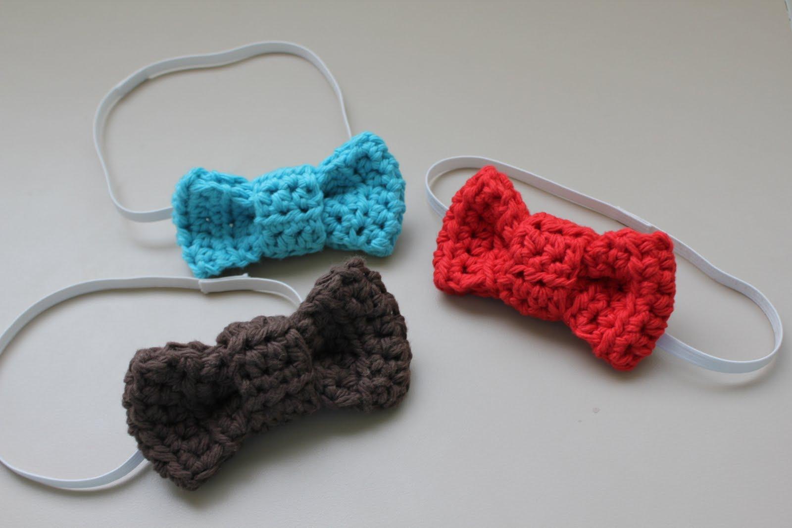 Crochet Bow : RisC Handmade: Crocheted Little Guy Bow Tie