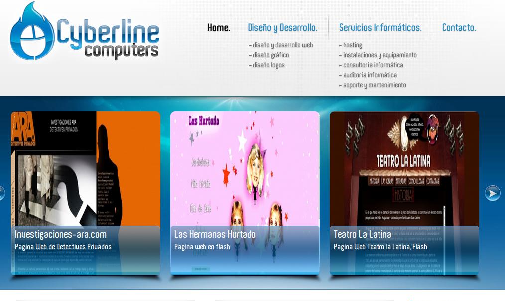 diseño web cyberline