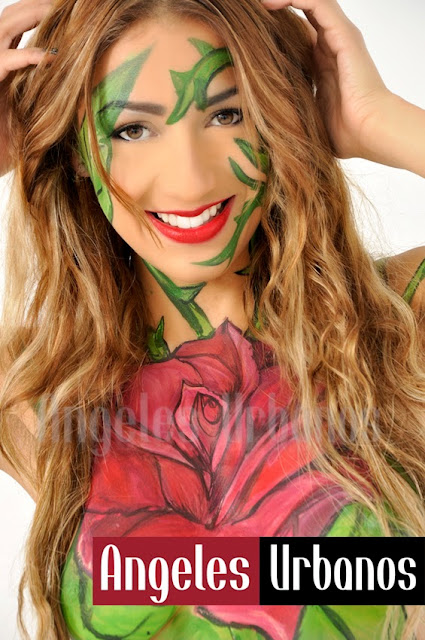 bodypaint rose