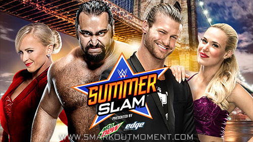 WWE SummerSlam 2015 PPV Ziggler vs Rusev match