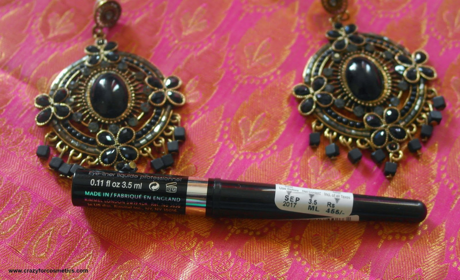 Rimmel London Black Liquid Liner Glam eyes professional eyeliner in India