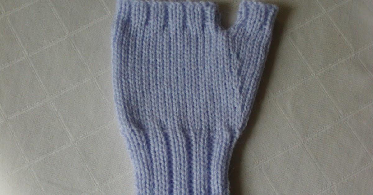 Knitting Instructions M1 : Addicted to machine knitting fingerless gloves