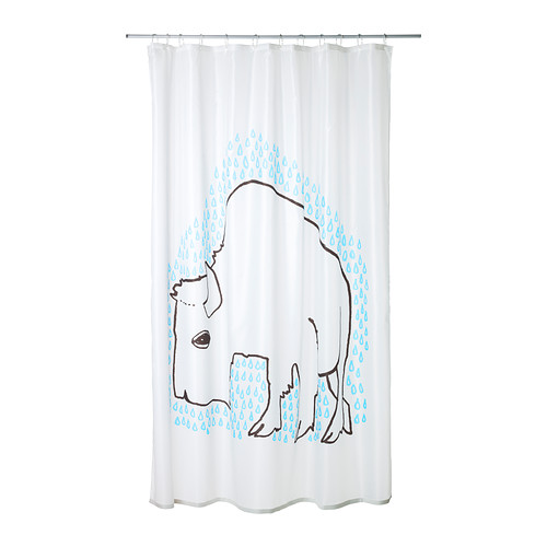 Bison Shower Curtain Ever Since Sunday Morning