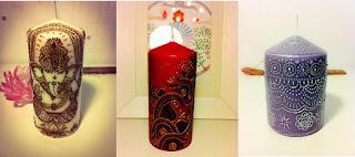 мехенди на свечах