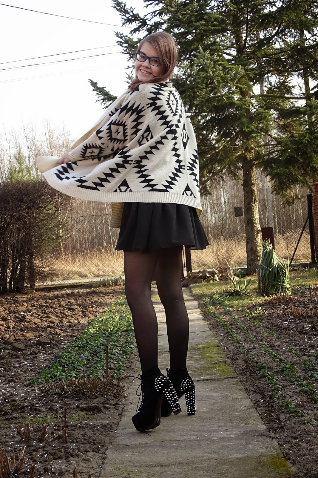 OOTD: Aztecki sweter+lity