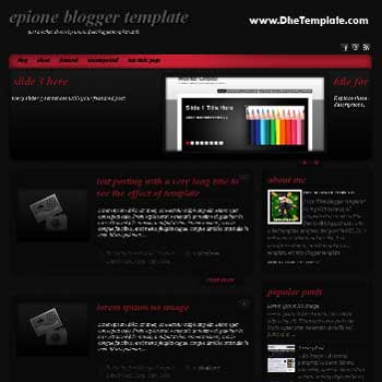 Epione blogger template convert WordPress to Blogger template. magazine style template