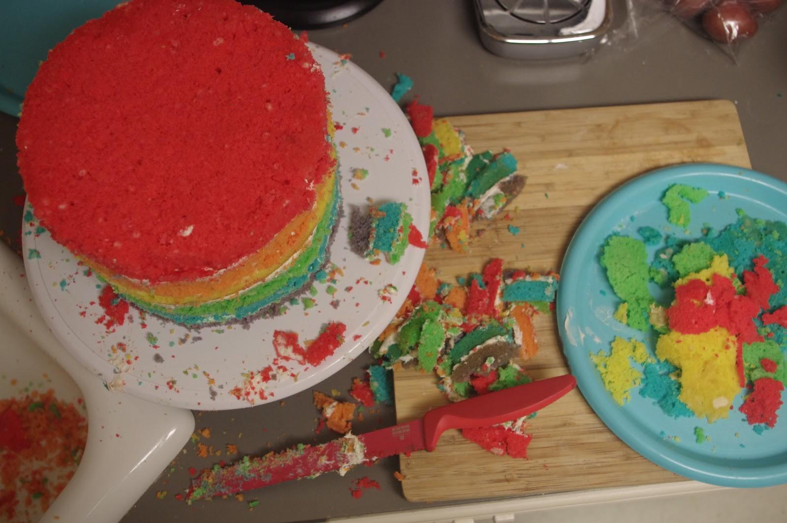 Little Kitchen, Lovely Food.: Rainbow Layered Birthday Cake