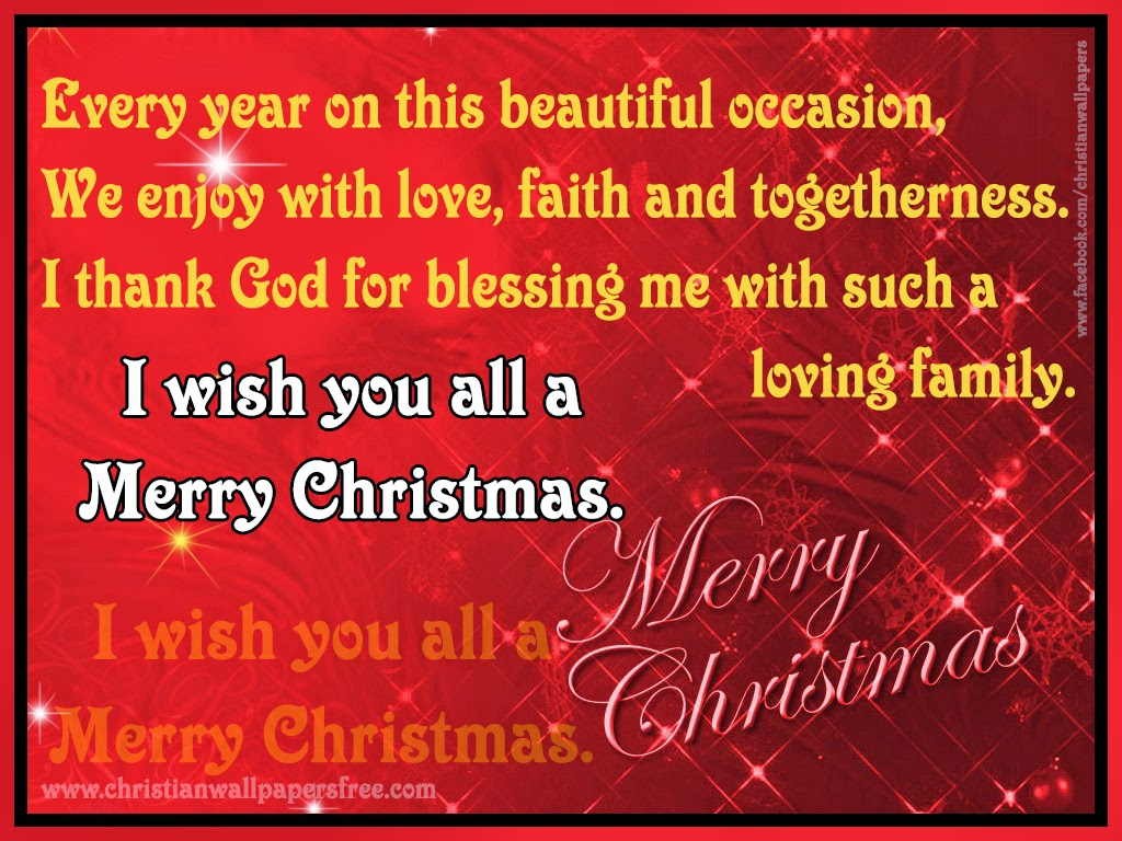 I Thank GOD For Blessing Me With Such A Loving Family. I Wish You All A Merry  Christmas.