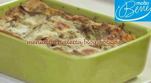Lasagne Primavera ai Carciofi ricetta Parodi per Molto Bene su Real Time