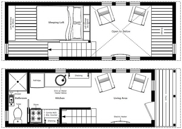 Simple Tiny Trailer House Plans   Tiny House Lifestyle   Small    Here are simple tiny trailer house plans for prospective homeowners