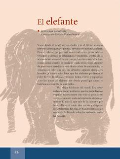 Apoyo Primaria Español Lecturas 6to Grado El elefante