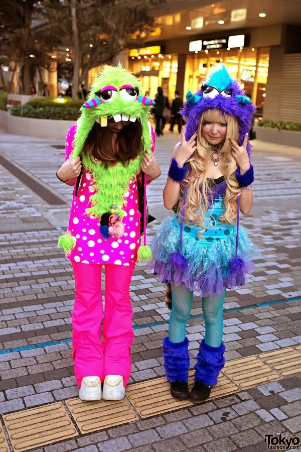 Kawaii girly colorful monster costumes