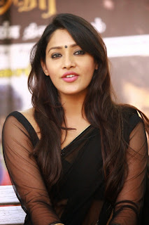 Actress Samruthika  Picture Gallery in Black Saree at Aayirathil Iruvar Movie Press Meet CelebsNext 28.JPG