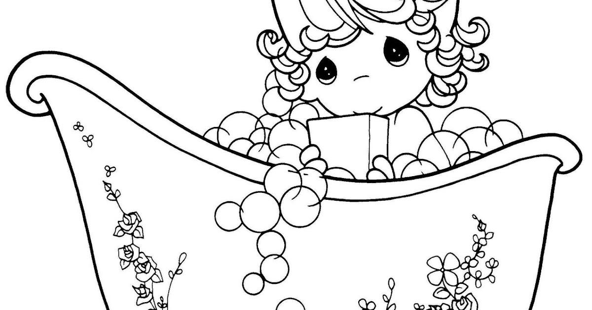 Tinas De Baño Para Ninas:de Niña tomando un baño en la tina de Los Preciosos Momentos para