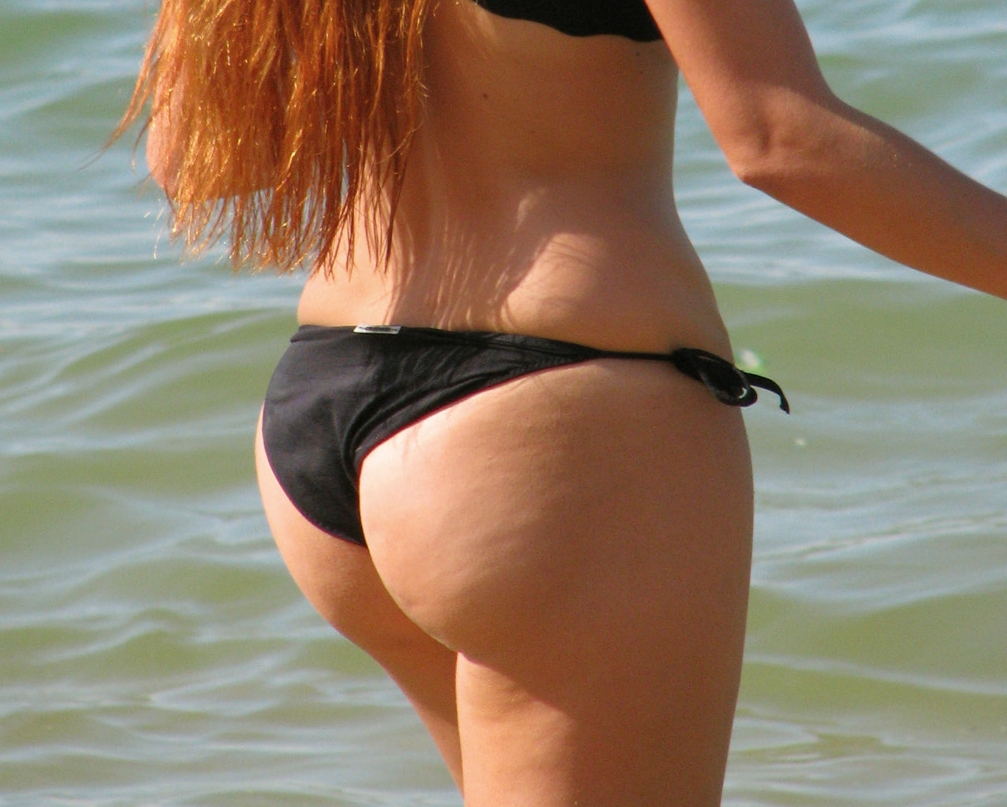 thong bikini ass beach Voyeur candid