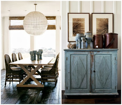 coastal theme design, rustic beach style furnishings