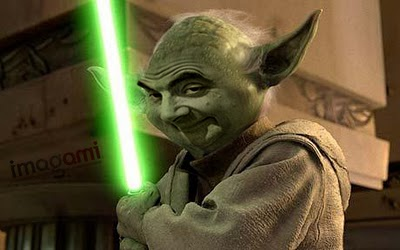 Face Mr. Bean mestre jedai Star Wars
