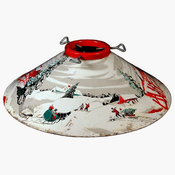 Some Beautiful Vintage Tree Skirts And Stands Inspiration