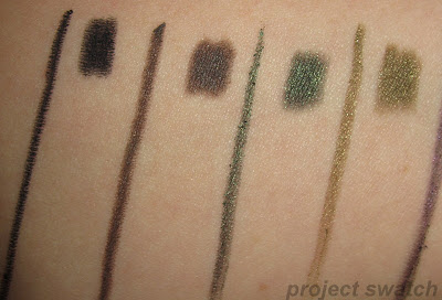 Deepest Black, Bold Brown, Daring Green, Fierce Blue, Intense Olive swatches