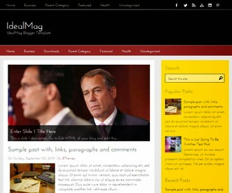 IdealMag is a Simple and Beautiful, 2 Columns Blogger Template for your Blog. IdealMag Blogger Template has a jQuery Slider, 2 Dropdown Menus, Related Posts, Breadcrumb, 4 Columns Footer