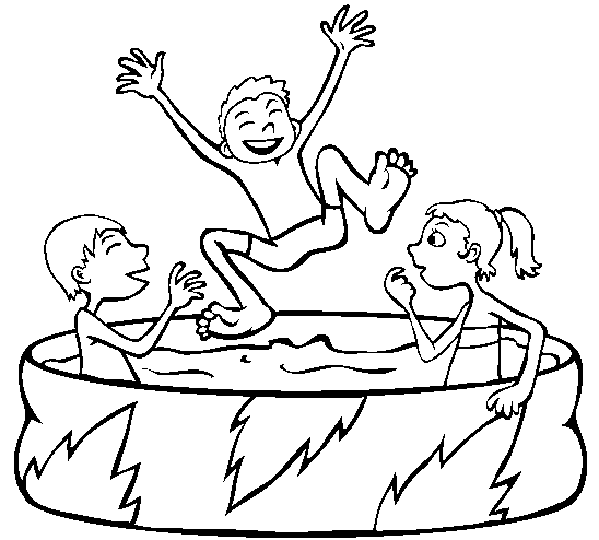 Draw swimming pool party sketch coloring page for Swimming pool sketch