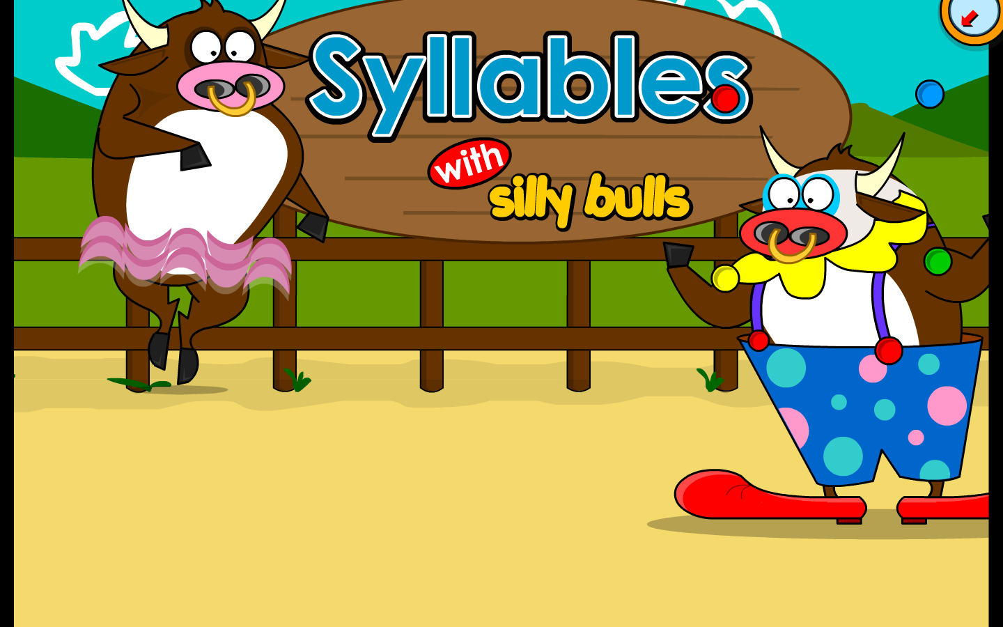 syllables with the silly bulls