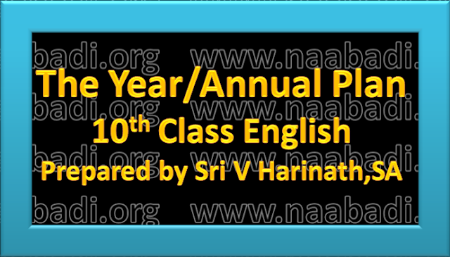 The Year/Annual Plan of 10th Class English Subject(www.naabadi.org)