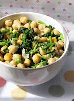 Salada de Agrião e Grão-de-Bico (vegana)