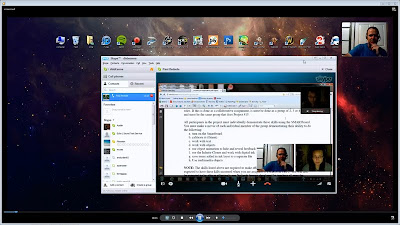 This is a screenshot of my Skype session using video chat, screen sharing, and screen recording.