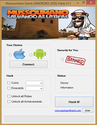 Mussoumano - Coins Hack Pack v1.1 main screen