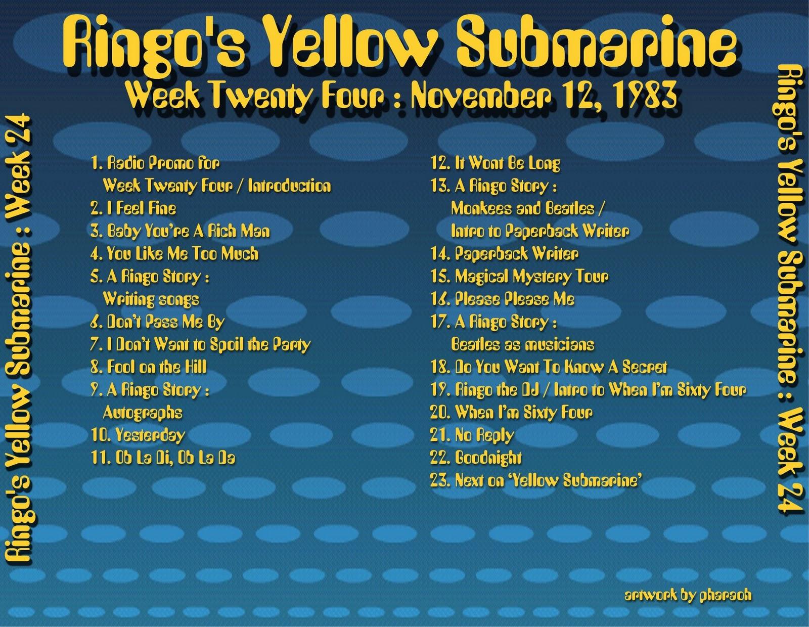 Beatles Radio Waves: 1983 11 12 Ringo's Yellow Submarine 24 #B99A12 1600 1240