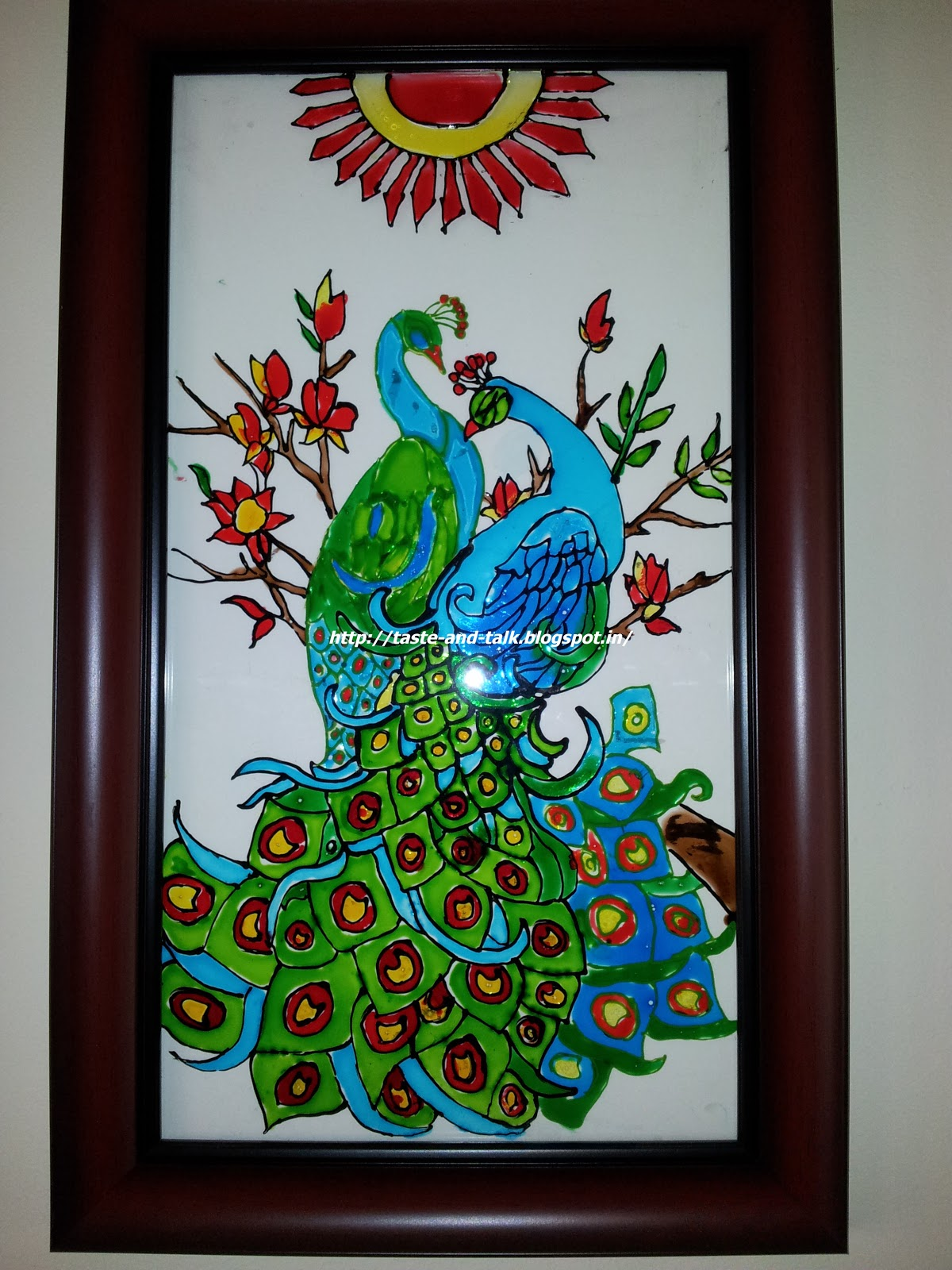 My creative space glass painting for Best glass painting designs