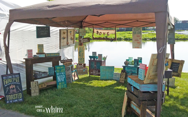 A Craft Show and Freshening Up My Booth with New Signs | Denise on a Whim