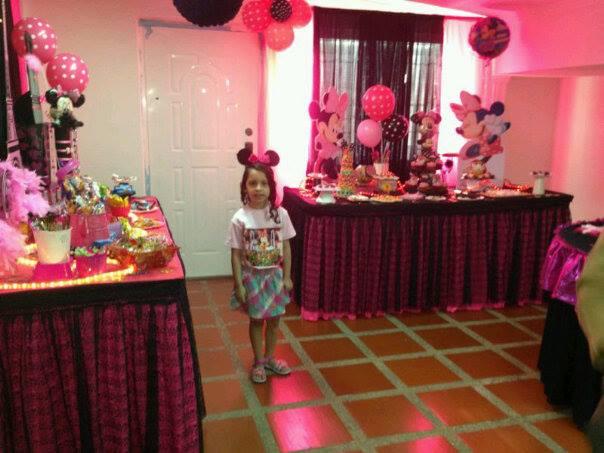 Decoracion Minnie Rosada ~ Castillos Eventos  de Ursula Newman Decoracion Fiesta Infantil