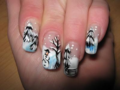 Seasonal Nail Art Design