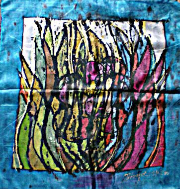 """Hiding parrot (22"""" X 22"""") 22/10/2010"""