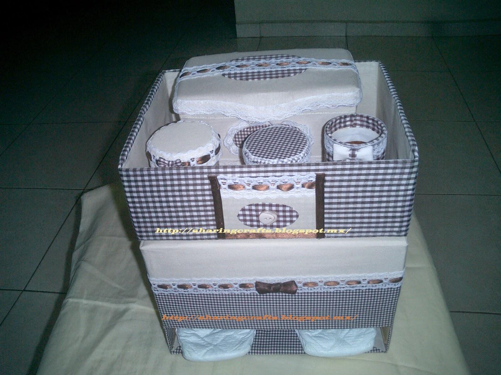 Organizador De Baño En Tela Paso A Paso: paso a paso: Organizador de pañales para bebe (caja de carton