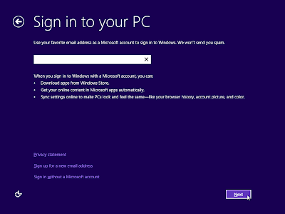 sign in windows 8
